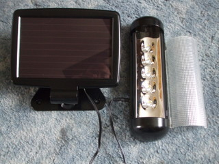Comercially available modular solar light