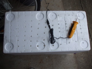 Holes in the worm chamber and hot wire cutter